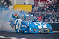 Feb 9, 2020; Pomona, CA, USA; NHRA funny car driver Matt Hagan during the Winternationals at Auto Club Raceway at Pomona. Mandatory Credit: Mark J. Rebilas-USA TODAY Sports