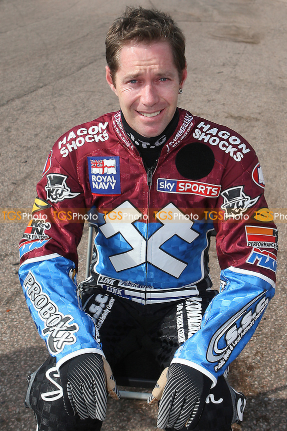 Davey Watt of Lakeside Hammers - Lakeside Hammers Speedway Press & Practice Day at Arena Essex Raceway, Purfleet - 20/03/12 - MANDATORY CREDIT: Gavin Ellis/TGSPHOTO - Self billing applies where appropriate - 0845 094 6026 - contact@tgsphoto.co.uk - NO UNPAID USE.