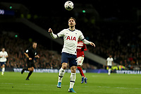 14th January 2020; Tottenham Hotspur Stadium, London, England; English FA Cup Football, Tottenham Hotspur versus Middlesbrough; Christian Eriksen of Tottenham Hotspur brings down a high ball - Strictly Editorial Use Only. No use with unauthorized audio, video, data, fixture lists, club/league logos or 'live' services. Online in-match use limited to 120 images, no video emulation. No use in betting, games or single club/league/player publications