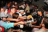 January 14, 2005; Honolulu, HI, USA;  15 year old amateur Michelle Wie signed autographs late in the day after completing her 2nd round of play at the PGA Sony Open golf tournament held at Waialae Country Club.    Wie shot a 4 over par 74 for the day and missed the cut by 7 strokes with a 9 over par 149.<br />