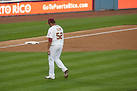 21 March 2009: Starting pitcher #52 Carlos Silva of Venezuela walks off the field after being relieved in the second inning during the 2009 World Baseball Classic semifinal game at Dodger Stadium in Los Angeles, California, USA. Korea wins 10-2 over Venezuela.