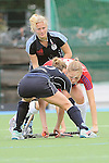 Mannheim, Germany, October 11: During the Regionalliga Damen Saison 2014/15 field hockey match between Feudenheimer HC and Wacker Muenchen on October 11, 2014  Mannheimer Hockey Club in Mannheim, Germany. Final score 4-1 (3-1). (Photo by Dirk Markgraf / www.265-images.com) *** Local caption ***