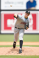 Starting pitcher Johnnie Lowe #35 of the Birmingham Barons in action versus the Carolina Mudcats at Five County Stadium August 16, 2009 in Zebulon, North Carolina. (Photo by Brian Westerholt / Four Seam Images)