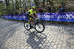 Lionel Taminiaux (BEL) Wallonie-Bruxelles on the the first ascent of the Kemmelberg during the 2019 Gent-Wevelgem in Flanders Fields running 252km from Deinze to Wevelgem, Belgium. 31st March 2019.<br /> Picture: Eoin Clarke | Cyclefile<br /> <br /> All photos usage must carry mandatory copyright credit (© Cyclefile | Eoin Clarke)