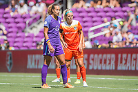 Orlando, FL - Saturday June 24, 2017: Toni Pressley, Rachel Daly during a regular season National Women's Soccer League (NWSL) match between the Orlando Pride and the Houston Dash at Orlando City Stadium.