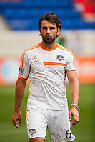 Mike Chabala (6) of the Houston Dynamo. The New York Red Bulls defeated the Houston Dynamo 2-0 during a Major League Soccer (MLS) match at Red Bull Arena in Harrison, NJ, on June 30, 2013.
