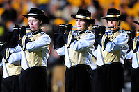 04 October 2008: Colorado marching band flute players perform at halftime of a game against Texas.  The Texas Longhorns defeated the Colorado Buffaloes 38-14 at Folsom Field in Boulder, Colorado. For Editorial Use Only