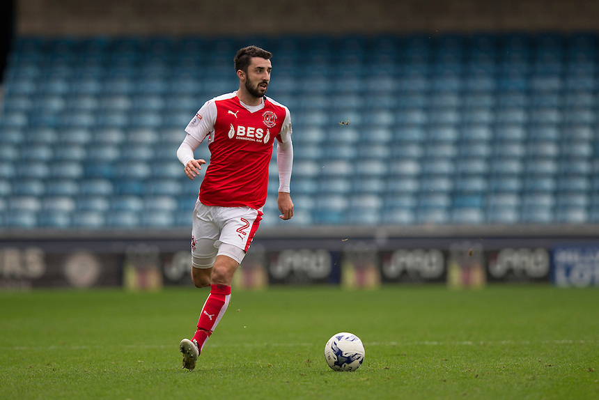 Fleetwood Town's Conor McLaughlin in action<br /> <br /> Photographer Craig Mercer/CameraSport<br /> <br /> The EFL Sky Bet League One - Millwall v Fleetwood Town - Saturday 22nd October 2016 - The Den - London<br /> <br /> World Copyright &copy; 2016 CameraSport. All rights reserved. 43 Linden Ave. Countesthorpe. Leicester. England. LE8 5PG - Tel: +44 (0) 116 277 4147 - admin@camerasport.com - www.camerasport.com