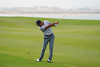 Hugo Leon (CHI) on the 9th during Round 1 of the Oman Open 2020 at the Al Mouj Golf Club, Muscat, Oman . 27/02/2020<br /> Picture: Golffile   Thos Caffrey<br /> <br /> <br /> All photo usage must carry mandatory copyright credit (© Golffile   Thos Caffrey)