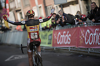 another straightforward victory for Sanne Cant (BEL/Enertherm-Beobank)<br /> <br /> Elite Women's Race<br /> Soudal Jaarmarktcross Niel 2016