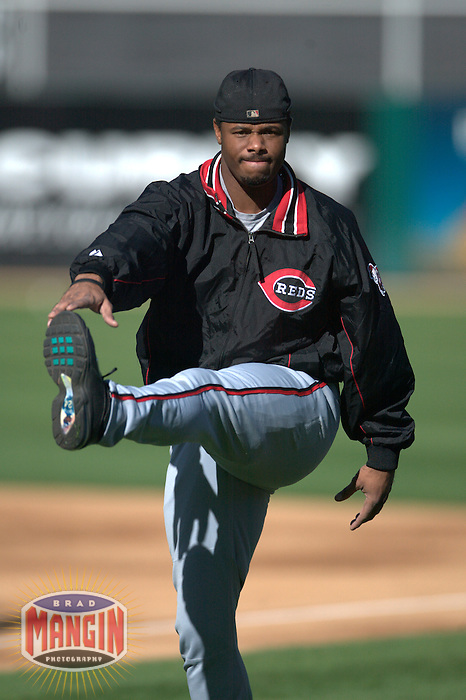 9a0b2c1995 Ken Griffey Jr. Cincinnati Reds vs Oakland Athletics. Oakland, CA 6/7