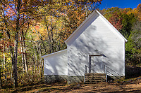 The historic Erbie Comminity Church built in 1900 on the Buffalo National River in Arkansas
