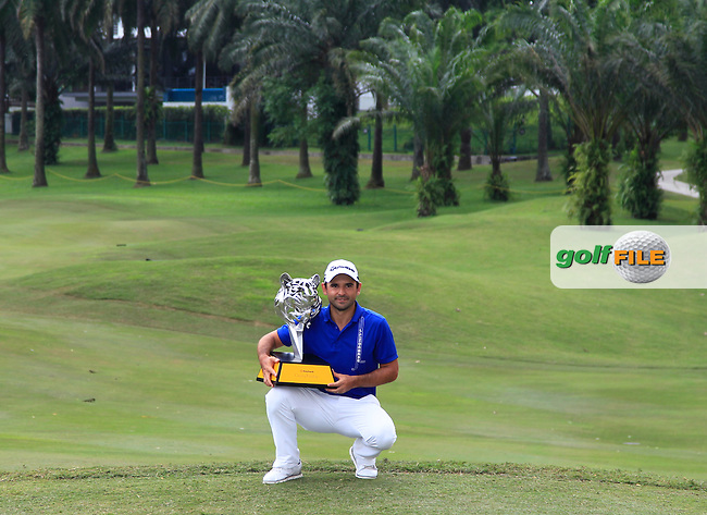Fabrizio Zanotti (PAR) winner of the Maybank Championship on Sunday 12th February 2017.<br /> Picture:  Thos Caffrey / Golffile<br /> <br /> All photo usage must carry mandatory copyright credit     (&copy; Golffile   Thos Caffrey)