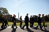 Washington, DC - October 20, 2009 -- Guests arrive at the White House, October 20, 2009, for a recognition ceremony to honor Troop A, First Squadron, 11th Armored Combat Regiment of the U.S. Army, recipients of the Presidential Unit Citation for their actions in the Republic of Vietnam. .Mandatory Credit: Lawrence Jackson - White House via CNP