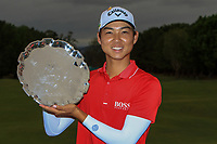 Min Woo Lee (AUS) winner of the Rookie of the Year at the Australian PGA Championship at  RACV Royal Pines Resort, Gold Coast, Queensland, Australia. 22/12/2019.<br /> Picture Thos Caffrey / Golffile.ie<br /> <br /> All photo usage must carry mandatory copyright credit (© Golffile   Thos Caffrey)
