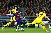 27th November 2019; Camp Nou, Barcelona, Catalonia, Spain; UEFA Champions League Football, Barcelona versus Borussia Dortmund;  Leo Messi turns inside Hummells of Dortmund