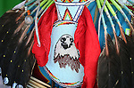 Colton Kochampanasken's regalia seen at the annual Stewart Father's Day Pow Wow at the historic Stewart Indian Facility in Carson City, Nev., on Sunday, June 16, 2013.<br /> Photo by Cathleen Allison