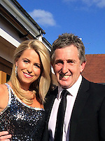 """Pictured: TV pundit Jonathan Davies with his bride-to-be Jay Thorburn. IMAGE TAKEN FROM JONATHAN DAVIES' SOCIAL MEDIA<br /> Re: Rugby legend Jonathan Davies has been hit by heartbreak days before his third wedding.<br /> Davies's stepfather Ken died suddenly while the BBC pundit and his new bride were getting ready for their big day.<br /> Father-of-four Davies , 53, tweeted: """"Lost a great man today. My step dad for 37 yrs. RIP Ken. Thank you for being there for me always.""""<br /> Davies and his glamorous fiancee Jay Thorburn, 40, vowed to go ahead with the wedding in Marbella, Spain, which they booked earlier this year.   <br /> A friend of the pair said: """"It was a difficult decision - Jonathan was very close to his stepdad.<br /> """"Ken and Jonathan's mother helped him bring up his children when his first wife died tragically."""