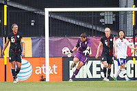 14 MAY 2011: USA Women's National Team Goalkeeper Hope Solo (1) during the International Friendly soccer match between Japan WNT vs USA WNT at Crew Stadium in Columbus, Ohio.
