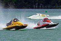 26  July, 2009, Trenton, Michigan USA.Milo Degugas (#83), Dan Orchard (#97) and Paul Trolian (#94)..©2009 F.Peirce Williams USA.SST-45 class
