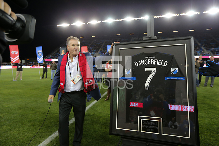 San Jose, CA - Saturday May 05, 2018: Chris Dangerfield during a Major League Soccer (MLS) match between the San Jose Earthquakes and the Portland Timbers at Avaya Stadium.