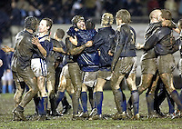 Cambridge University / Oxford University..Pcubed 23rd Rugby League Varsity match..The Athletic Ground, Richmond, March 5, 2003..Pic : Max Flego... Oxford players celebrate.