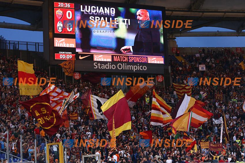 Luciano Spalletti Roma e i Tifosi<br /> Roma 14-05-2017  Stadio Olimpico <br /> Campionato Serie A AS Roma - Juventus<br /> Foto Cesare Purini / Insidefoto