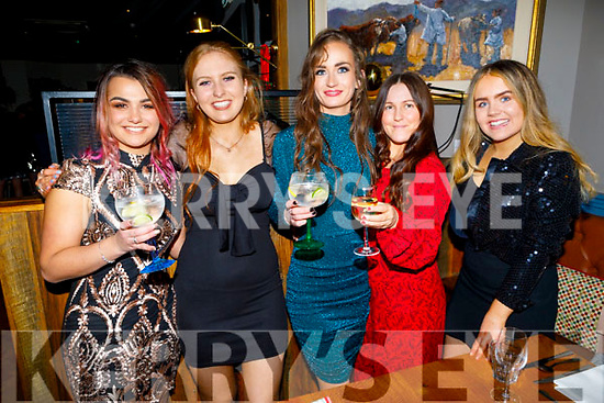 The staff of Swamp enjoying their Christmas Party in the Ashe Hotel<br /> Julia Trasny, Emma Daly, Claire Leonard, Tracy Lacey and Ada O'Connor.