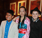 JJ Cepeda & Sandy Liu & Michael Mastracci perform at the Broadway Extravaganza to honor the Candidacy of Artist Jane Elissa for the Leukemia & Lymphoma Society, Man & Woman of the Year on April 23, 2012 at the New York Marriott Marquis, New York City, New York.  (Photo by Sue Coflin/Max Photos)