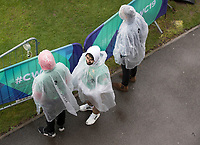 Fans sporting appropriate protection against the elements during Pakistan vs Sri Lanka, ICC World Cup Cricket at the Bristol County Ground on 7th June 2019