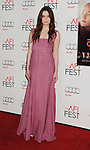 HOLLYWOOD, CA - NOVEMBER 07: Alice Englert arrives at the 'Ginger And Rosa' special screening during AFI Fest 2012 at Grauman's Chinese Theatre on November 7, 2012 in Hollywood, California.