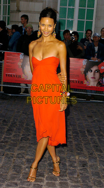 "THANDIE NEWTON.""Volver"" UK film premiere, Curzon Mayfair, London, UK..August 3rd, 2006.Ref: CAN.full length red strapless dress.www.capitalpictures.com.sales@capitalpictures.com.©Can Nguyen/Capital Pictures"
