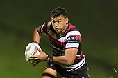 Liam Daniela. Mitre 10 Cup game between Counties Manukau Steelers and Tasman Mako's, played at ECOLight Stadium Pukekohe on Saturday October 14th 2017. Counties Manukau won the game 52 - 30 after trailing 22 - 19 at halftime. <br /> Photo by Richard Spranger.