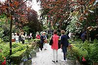 Nederland  Amsterdam 2017. Museum Van Loon organiseert ook in 2017 de Open Tuinen Dagen. Op 16, 17 en 18 juni wordt het verborgen groen van de Amsterdamse binnenstad zichtbaar als ruim 30  tuinen van zowel particulieren als instellingen worden opengesteld voor het publiek.  Tuin van Keizersgracht 269. Foto Berlinda van Dam / Hollandse Hoogte