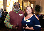 WATERBURY,  CT-051619JS25-  Andre Scott and Deanna Krzykowski at the Children's Community School's annual dinner and 50th anniversary celebration at La Bella Vista in Waterbury. <br /> Jim Shannon Republican American