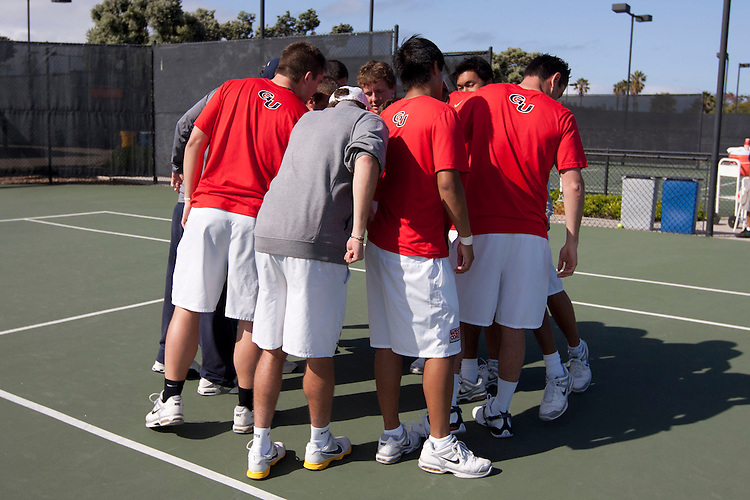 April 22, 2011; San Diego, CA, USA; Gonzaga Bulldogs during the second round of the WCC Tennis Championships at the Barnes Tennis Center.
