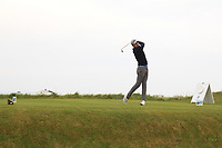 Michael Hirman (GER) on the 1st tee during Round 1of the Flogas Irish Amateur Open Championship 2019 at the Co.Sligo Golf Club, Rosses Point, Sligo, Ireland. 16/05/19<br /> <br /> Picture: Thos Caffrey / Golffile<br /> <br /> All photos usage must carry mandatory copyright credit (© Golffile | Thos Caffrey)