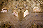 Detail from the Hall of the Kings, Court of the Lions, Alhambra, Granada, Spain