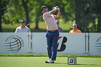 Andrew Landry (USA) watches his tee shot on 3 during 2nd round of the World Golf Championships - Bridgestone Invitational, at the Firestone Country Club, Akron, Ohio. 8/3/2018.<br /> Picture: Golffile | Ken Murray<br /> <br /> <br /> All photo usage must carry mandatory copyright credit (© Golffile | Ken Murray)