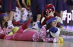 27.12.2013 Fotos actuacio dreamcheers durant el partit FC Barcelona v Herbalife Gran Canaria al Palau blaugrana