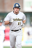 May 2, 2009: Chris Davis (11) of the South Bend Silver Hawks at Elfstrom Stadium in Geneva, IL.  Photo by: Chris Proctor/Four Seam Images