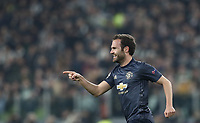 Football Soccer: UEFA Champions League -Group Stage-  Group H - Juventus vs Manchester United, Allianz Stadium. Turin, Italy, November 07, 2018.<br /> Manchester United's Juan Mata celebrates after scoring during the Uefa Champions League football soccer match between Juventus and Manchester United at Allianz Stadium in Turin, November 07, 2018.<br /> UPDATE IMAGES PRESS/