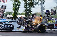 Jun 10, 2017; Englishtown , NJ, USA; NHRA top fuel driver Shawn Langdon during qualifying for the Summernationals at Old Bridge Township Raceway Park. Mandatory Credit: Mark J. Rebilas-USA TODAY Sports