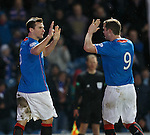 Lee McCulloch takes the acclaim after scoring from the spot to seal the win for Rangers