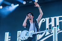 Chromeo performs at the Festival d'ete de Quebec (Quebec Summer Festival) on July 5, 2018.