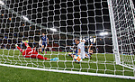 06.09.2019 Scotland v Russia, European Championship 2020 qualifying round, Hampden Park:<br /> Stephen O'Donnell scores an own goal past Scotland keeper David Marshall under pressure from Yuri Zhirkov