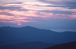 Sunset from the top of Helvellyn, Cumbria Lake District, England UK