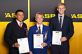 Boys Touch finalists Pheonix Hunapo, Matt Snclair and Chris Swain. ASB College Sport Young Sportsperson of the Year Awards held at Eden Park, Auckland, on November 24th 2011.