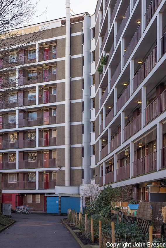Tower block of flats, Islington, London.