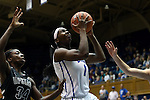 14 November 2013: Duke's Elizabeth Williams (1) and Brittany Starling (34). The Duke University Blue Devils played the University of South Carolina Upstate Spartans at Cameron Indoor Stadium in Durham, North Carolina in a 2013-14 NCAA Division I Women's Basketball game. Duke won the game 123-40.